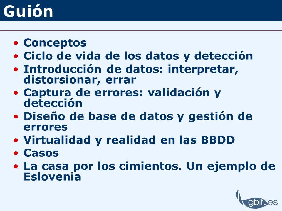 Guión Conceptos Ciclo de vida de los datos y detección