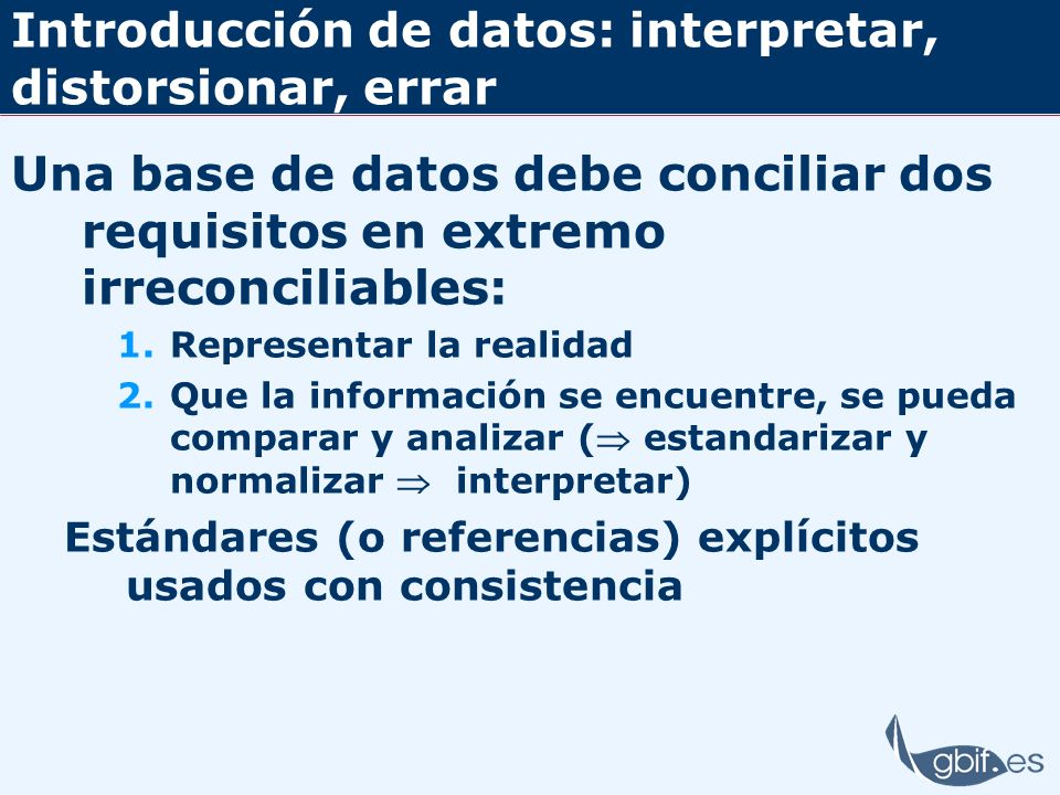 Introducción de datos: interpretar, distorsionar, errar