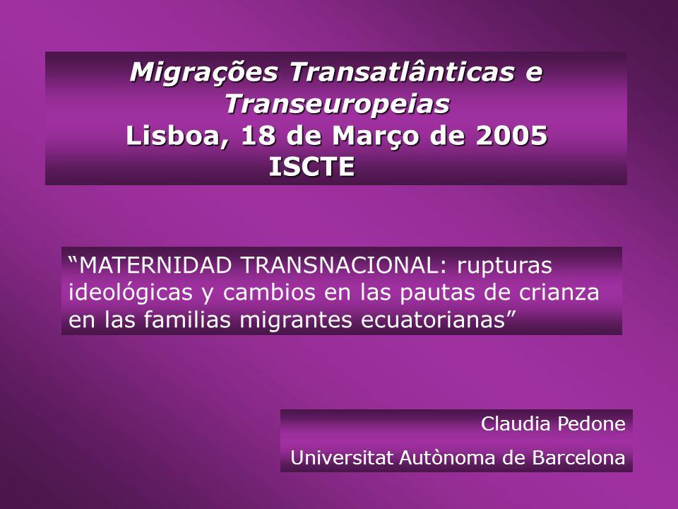 Migrações Transatlânticas e Transeuropeias