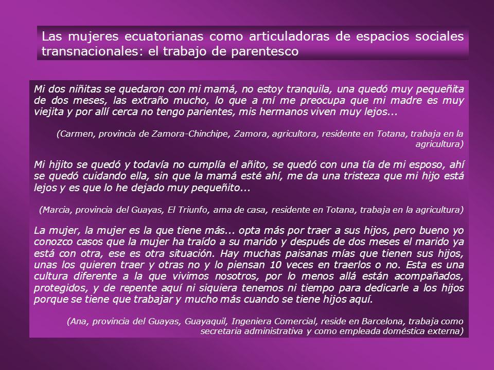 Las mujeres ecuatorianas como articuladoras de espacios sociales transnacionales: el trabajo de parentesco