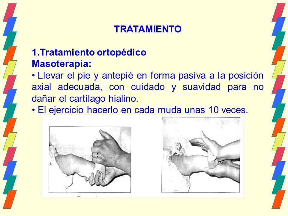 TRATAMIENTO Tratamiento ortopédico. Masoterapia: