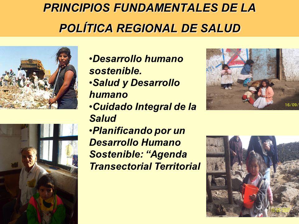 PRINCIPIOS FUNDAMENTALES DE LA POLÍTICA REGIONAL DE SALUD