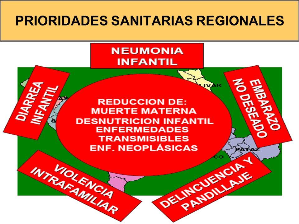 PRIORIDADES SANITARIAS REGIONALES