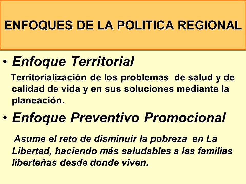 ENFOQUES DE LA POLITICA REGIONAL