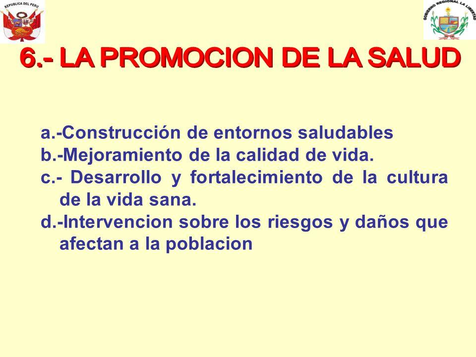 6.- LA PROMOCION DE LA SALUD