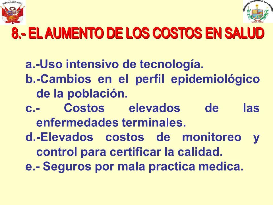 8.- EL AUMENTO DE LOS COSTOS EN SALUD