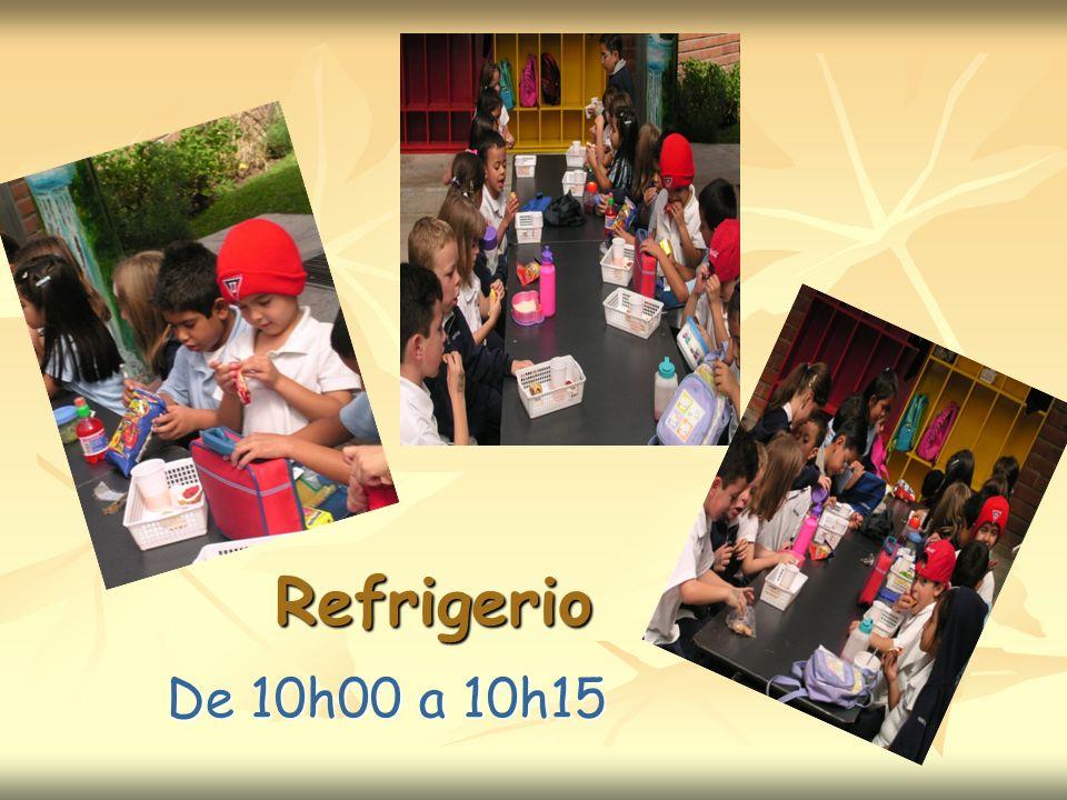 Refrigerio De 10h00 a 10h15