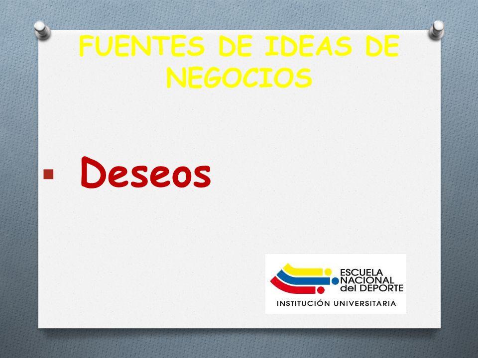 FUENTES DE IDEAS DE NEGOCIOS