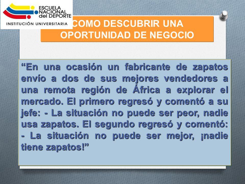 COMO DESCUBRIR UNA OPORTUNIDAD DE NEGOCIO