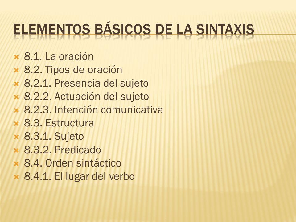 Elementos básicos de la sintaxis