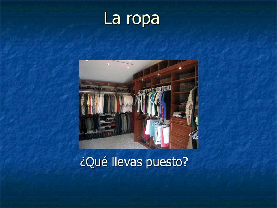 La ropa ¿Qué llevas puesto