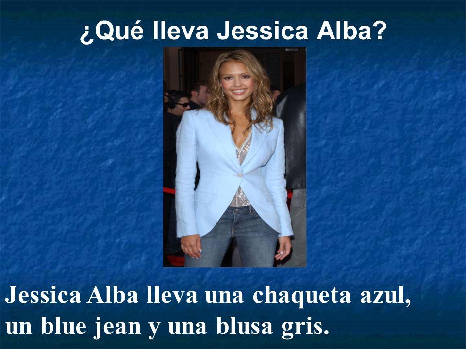 ¿Qué lleva Jessica Alba