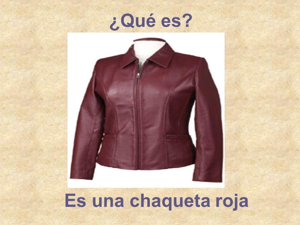 ¿Qué es Es una chaqueta roja
