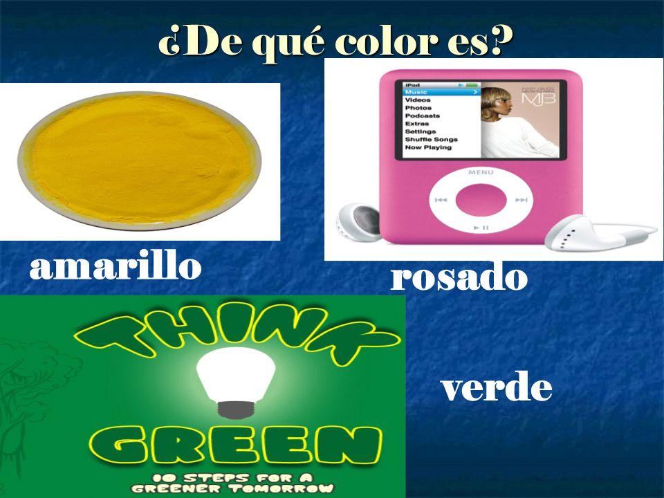 ¿De qué color es amarillo rosado verde