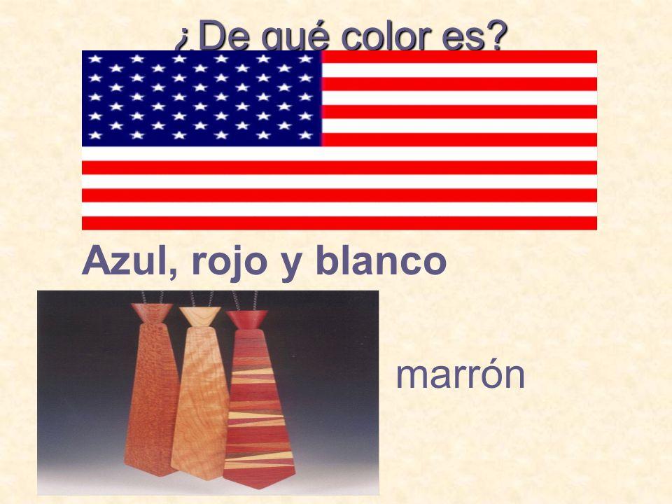 ¿De qué color es Azul, rojo y blanco marrón