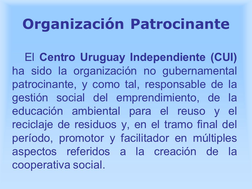 Organización Patrocinante