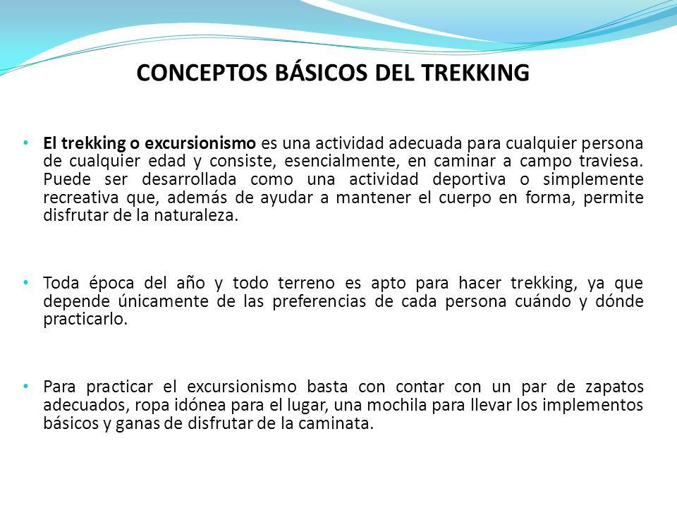 CONCEPTOS BÁSICOS DEL TREKKING