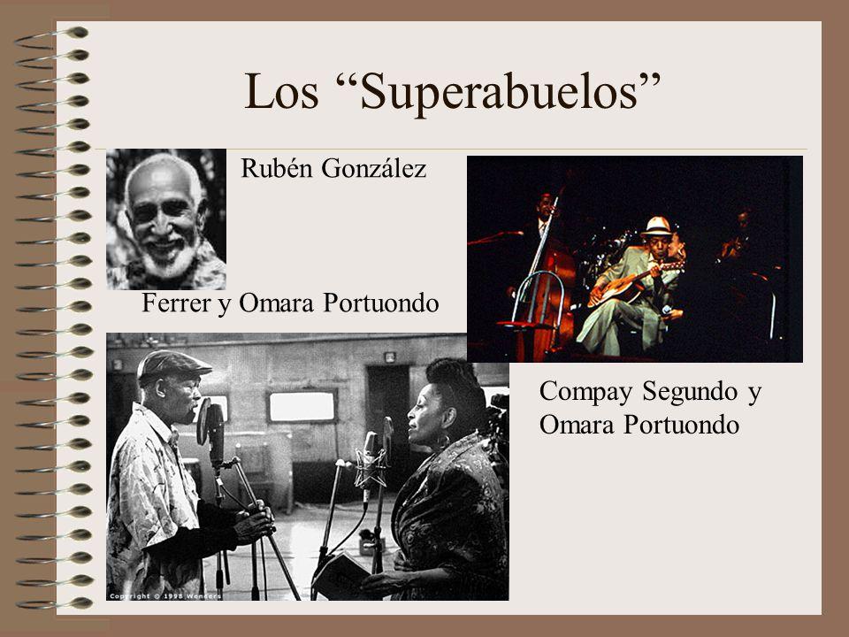 Los Superabuelos Rubén González Ferrer y Omara Portuondo
