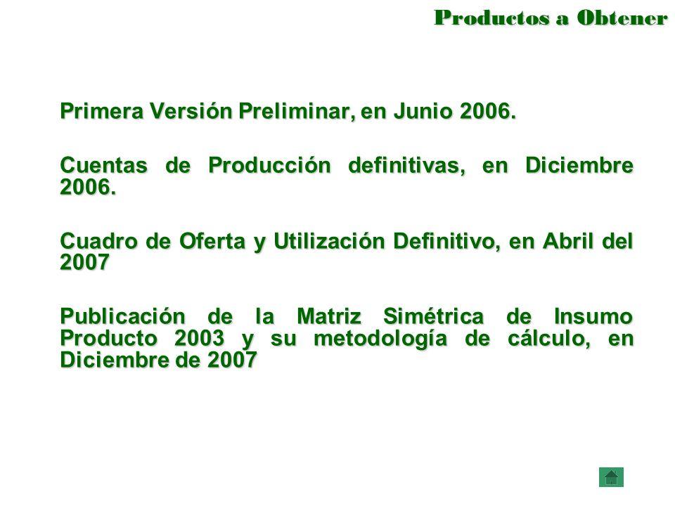 Primera Versión Preliminar, en Junio 2006.