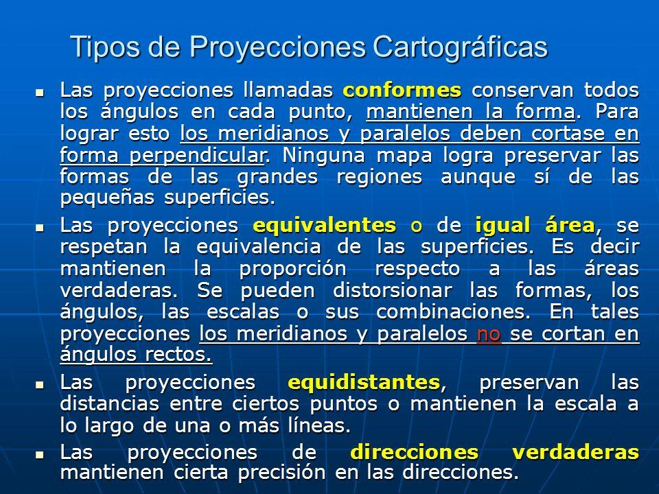 Tipos de Proyecciones Cartográficas