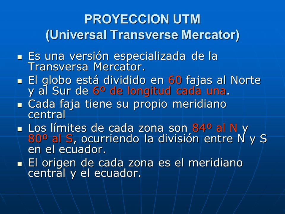 PROYECCION UTM (Universal Transverse Mercator)