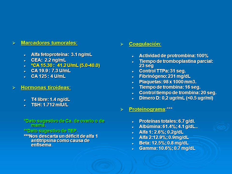 Marcadores tumorales: