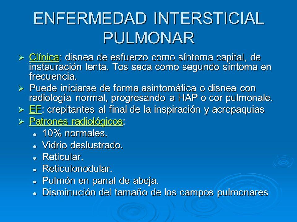 ENFERMEDAD INTERSTICIAL PULMONAR