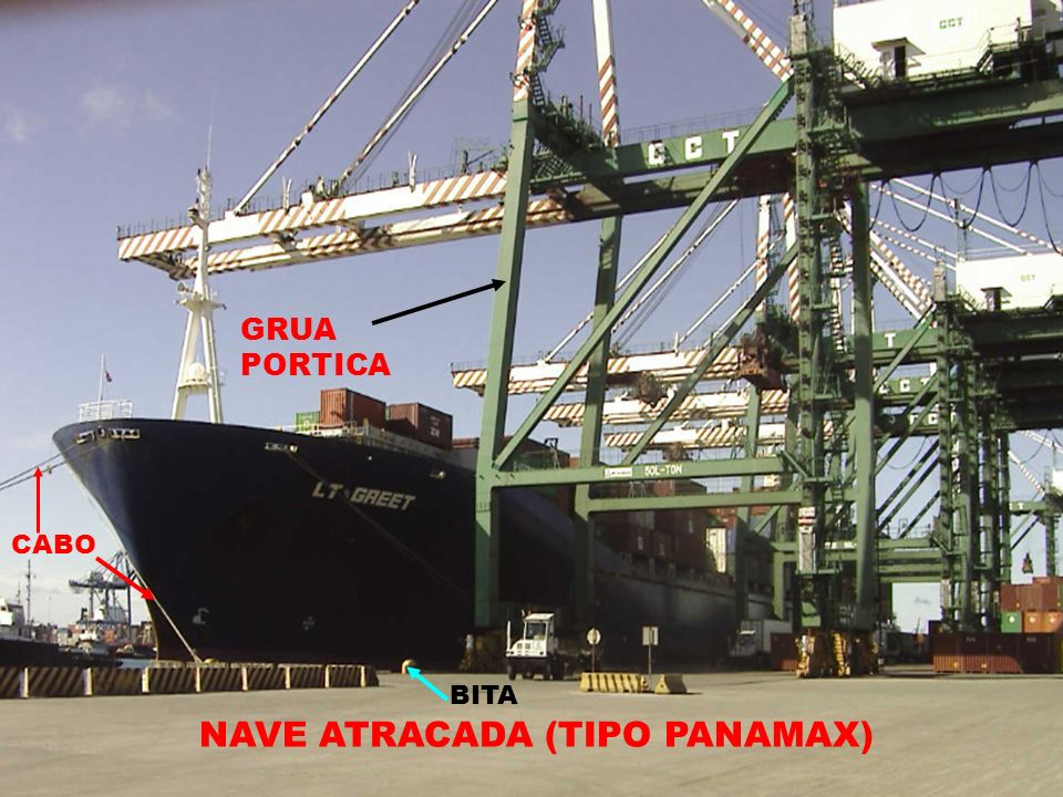 NAVE ATRACADA (TIPO PANAMAX)