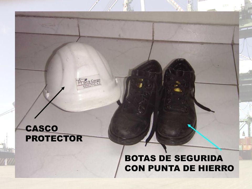 CASCO PROTECTOR BOTAS DE SEGURIDA CON PUNTA DE HIERRO