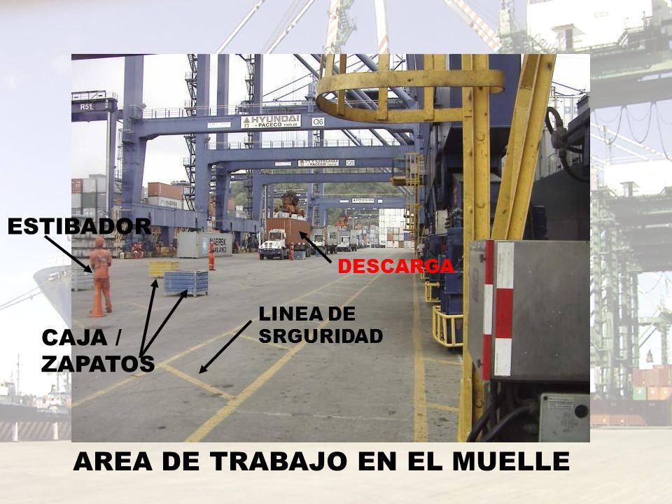AREA DE TRABAJO EN EL MUELLE