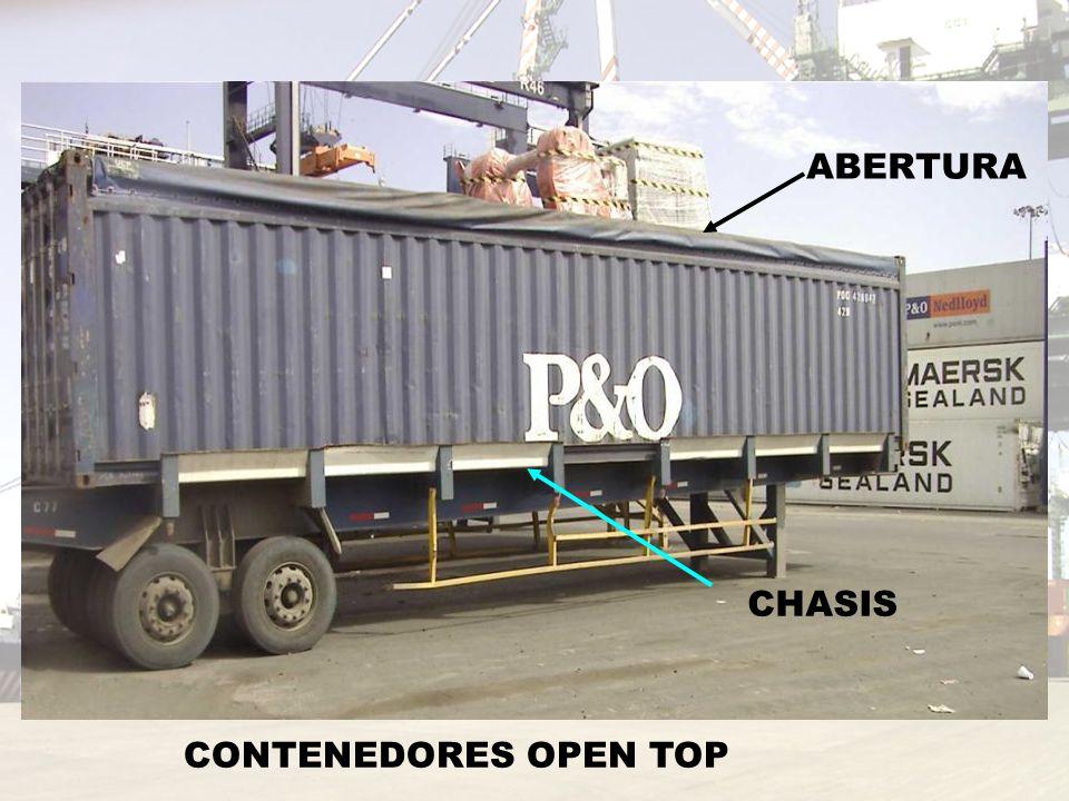 ABERTURA CHASIS CONTENEDORES OPEN TOP