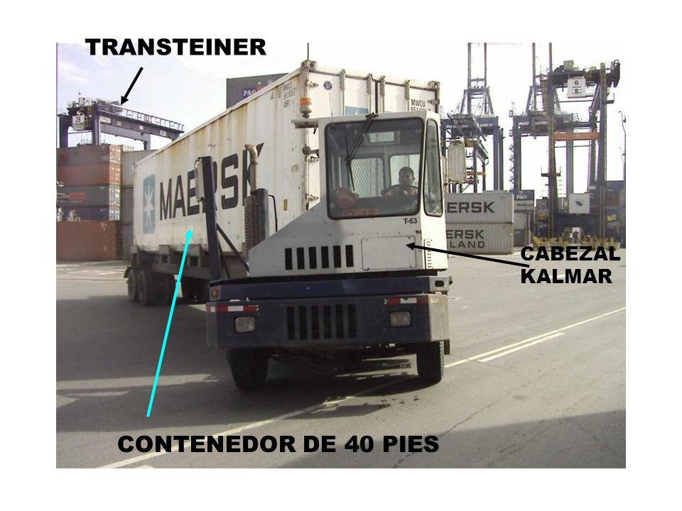 TRANSTEINER CABEZAL KALMAR CONTENEDOR DE 40 PIES