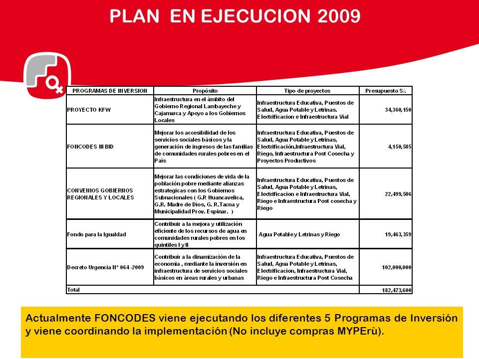 PLAN EN EJECUCION 2009