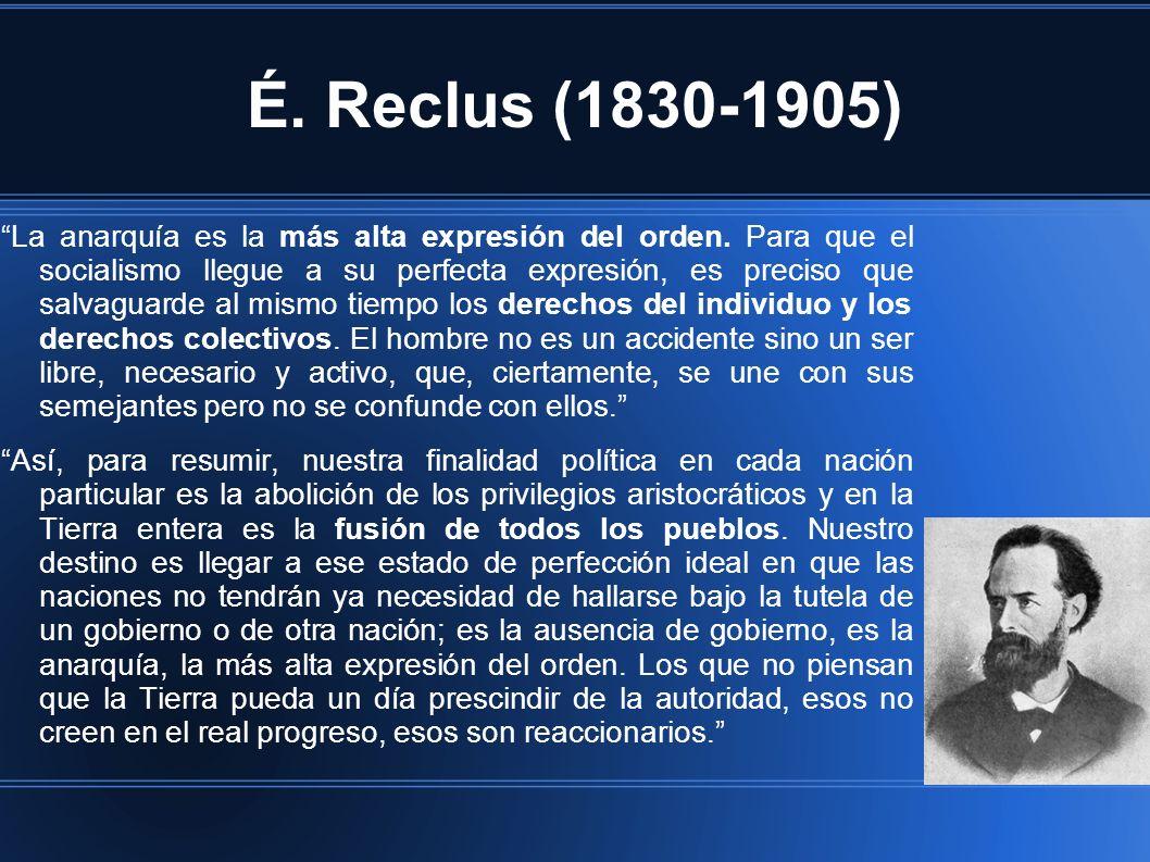 É. Reclus (1830-1905)
