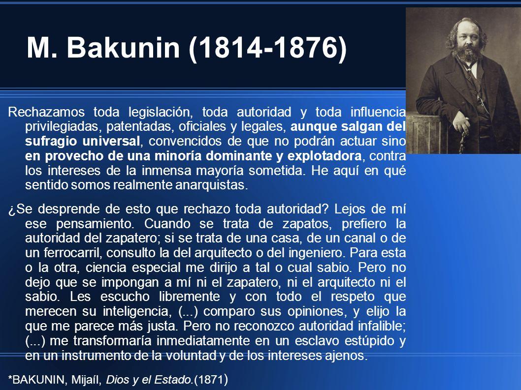 M. Bakunin (1814-1876)