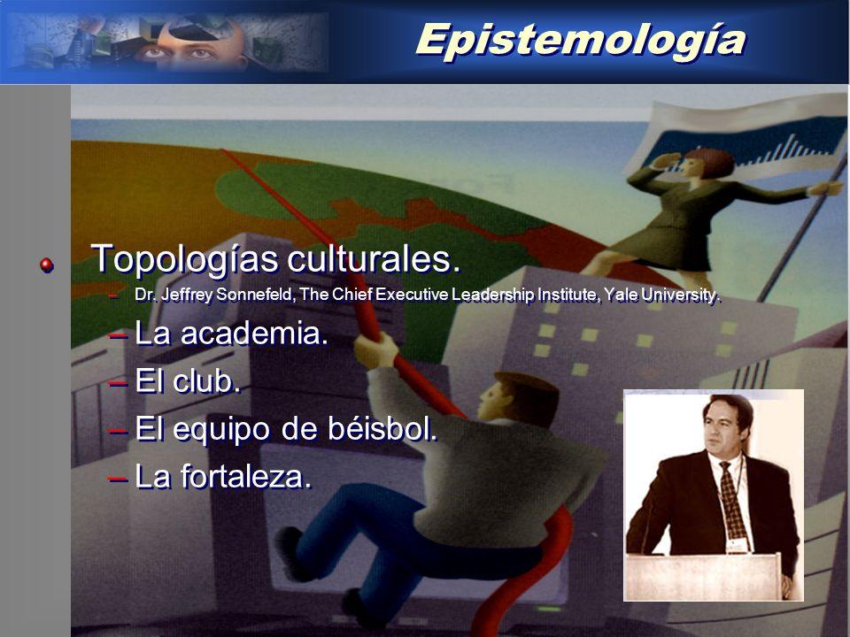 Epistemología Topologías culturales. La academia. El club.