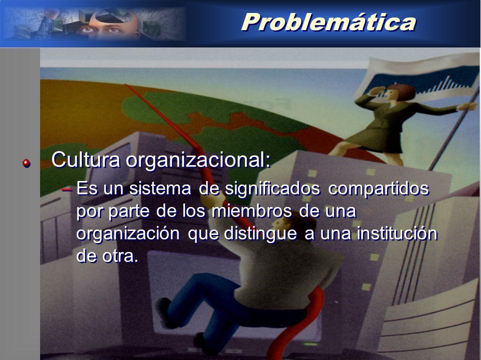 Problemática Cultura organizacional: