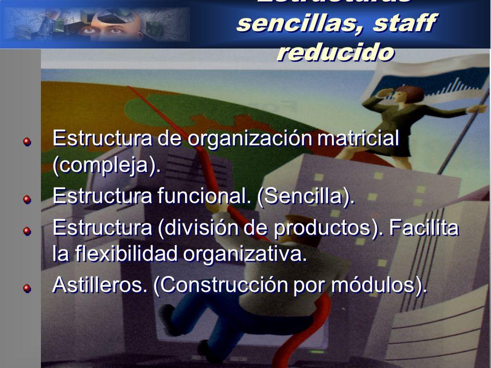 Estructuras sencillas, staff reducido