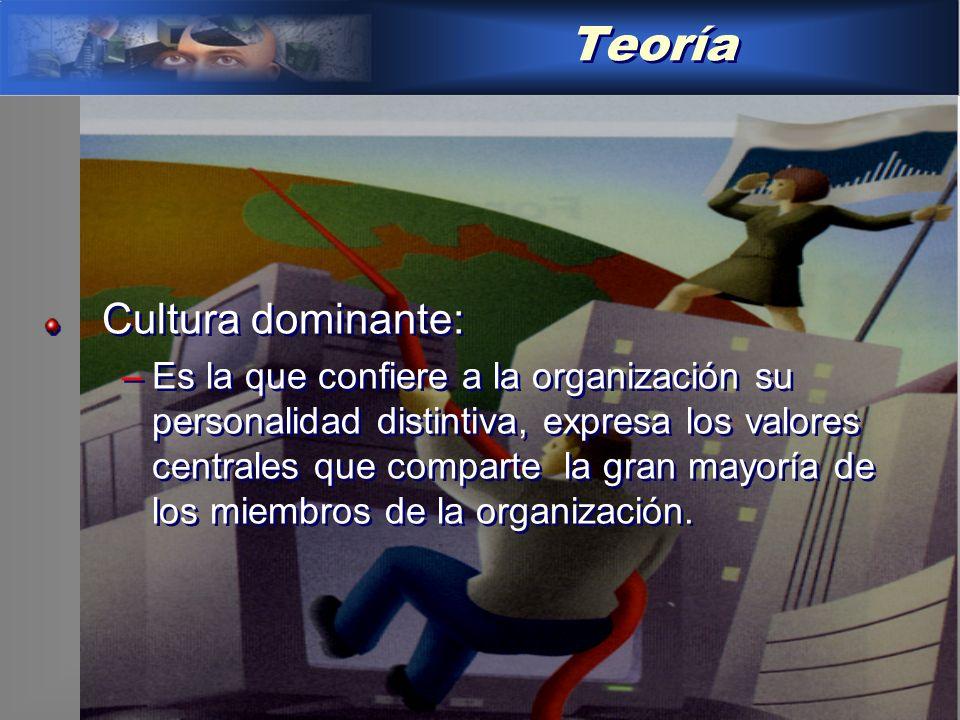 Teoría Cultura dominante: