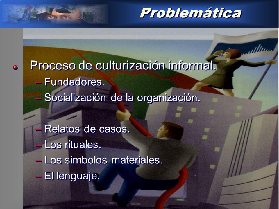 Problemática Proceso de culturización informal. Fundadores.