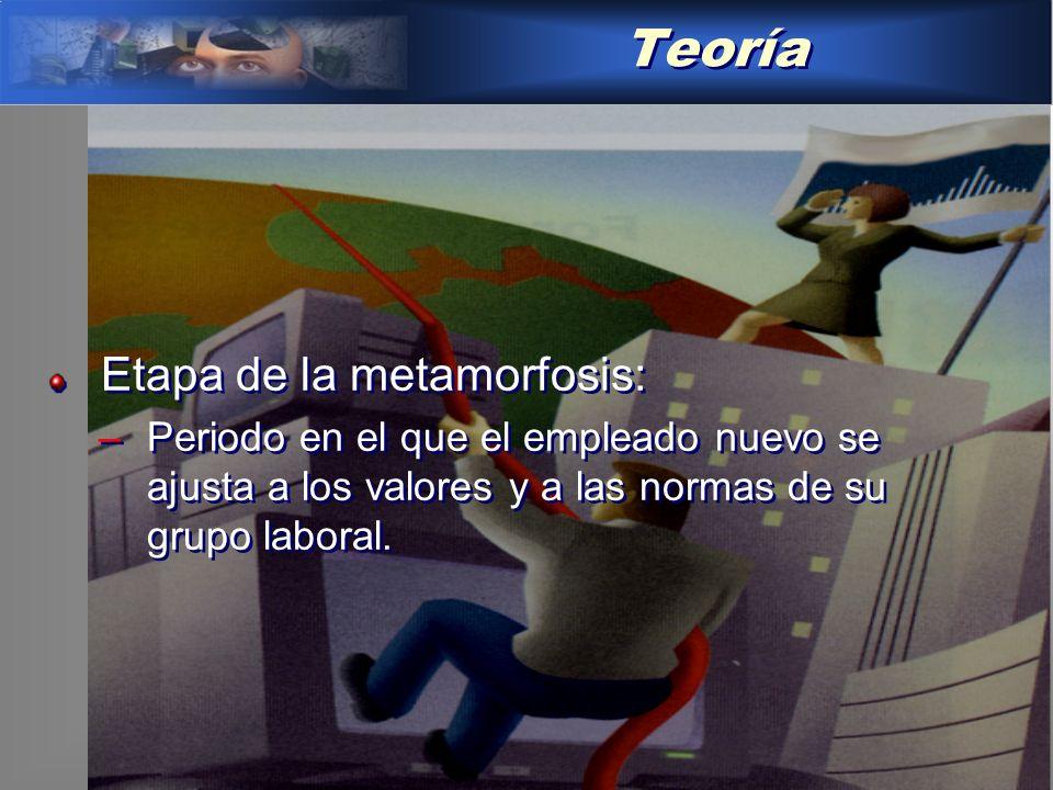 Teoría Etapa de la metamorfosis: