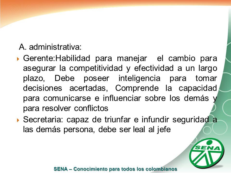 A. administrativa: