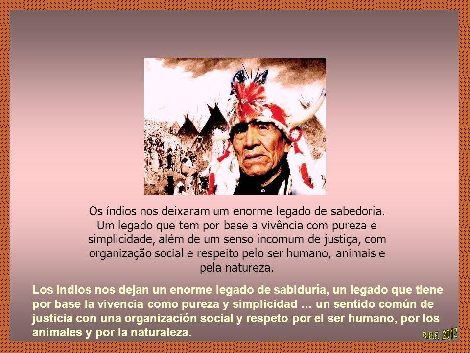 Os índios nos deixaram um enorme legado de sabedoria.