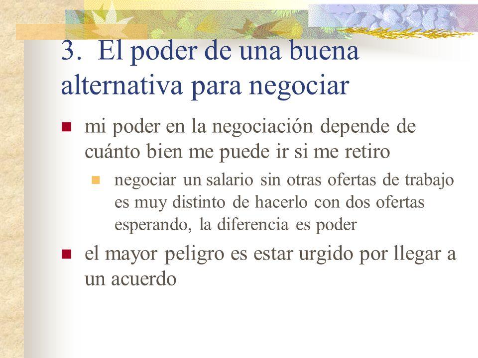 3. El poder de una buena alternativa para negociar