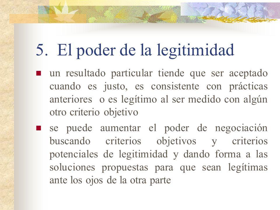 5. El poder de la legitimidad