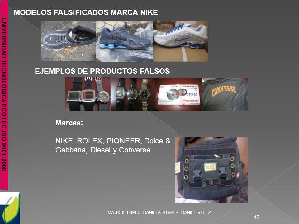 MODELOS FALSIFICADOS MARCA NIKE
