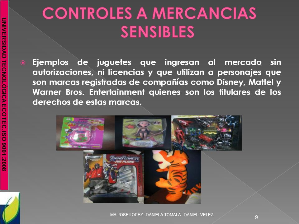 CONTROLES A MERCANCIAS SENSIBLES