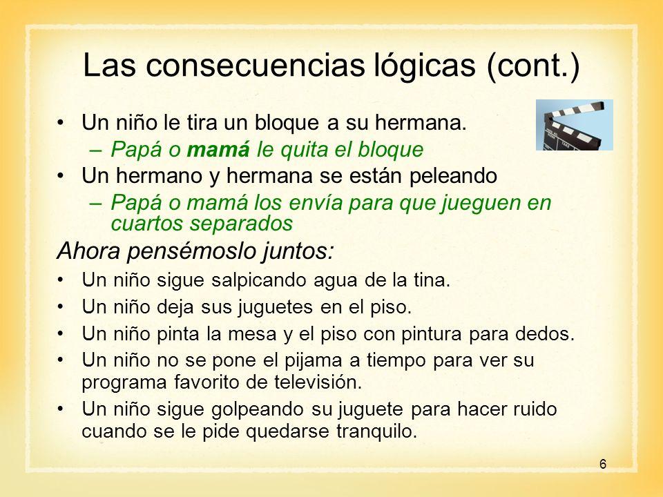 Las consecuencias lógicas (cont.)