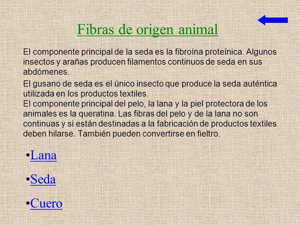 Fibras de origen animal