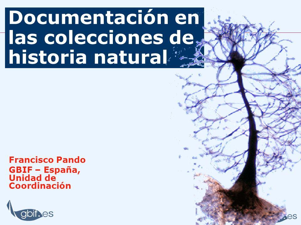 Documentación en las colecciones de historia natural